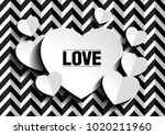 valentine's day abstract... | Shutterstock .eps vector #1020211960