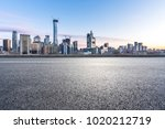 empty road with panoramic... | Shutterstock . vector #1020212719