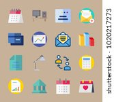 icons business with calculator  ... | Shutterstock .eps vector #1020217273