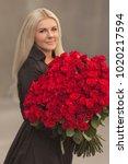 portrait of beautiful blonde...   Shutterstock . vector #1020217594