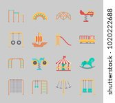 icons about amusement park with ... | Shutterstock .eps vector #1020222688
