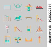 icons about amusement park with ... | Shutterstock .eps vector #1020222964