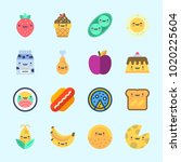 icons about food with milk ... | Shutterstock .eps vector #1020225604