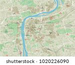 vector city map of prague with... | Shutterstock .eps vector #1020226090