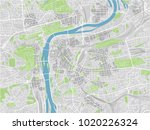 vector city map of prague with... | Shutterstock .eps vector #1020226324