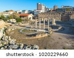 hadrian's library  athens | Shutterstock . vector #1020229660