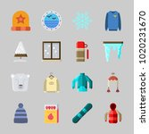 icons about winter with winter... | Shutterstock .eps vector #1020231670