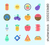 icons about food with taco  hot ... | Shutterstock .eps vector #1020233680