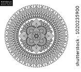flower mandala. vintage...   Shutterstock .eps vector #1020235900