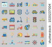 icons about transportation with ... | Shutterstock .eps vector #1020237004