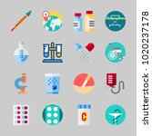 icons about medical with... | Shutterstock .eps vector #1020237178
