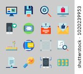icons about seo with sharing... | Shutterstock .eps vector #1020239953