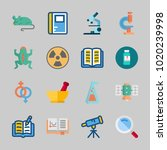 icons about science with... | Shutterstock .eps vector #1020239998
