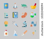 icons about science with... | Shutterstock .eps vector #1020240094