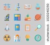 icons about science with... | Shutterstock .eps vector #1020240250