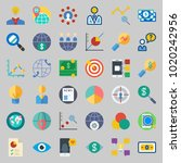 icons about marketing with... | Shutterstock .eps vector #1020242956