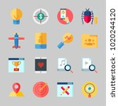 icons about seo with ranking ... | Shutterstock .eps vector #1020244120