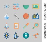 icons about science with... | Shutterstock .eps vector #1020247030