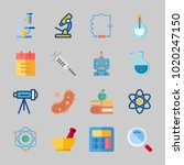 icons about science with burner ...   Shutterstock .eps vector #1020247150