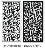 laser cut template leaf cnc... | Shutterstock .eps vector #1020247840