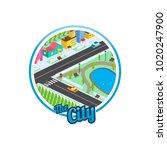 big city isometric real estate...   Shutterstock .eps vector #1020247900