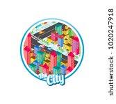 big city isometric real estate...   Shutterstock .eps vector #1020247918