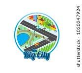 big city isometric real estate...   Shutterstock .eps vector #1020247924