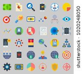 icons about marketing with... | Shutterstock .eps vector #1020248050