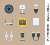 icons connectors cables with... | Shutterstock .eps vector #1020248680