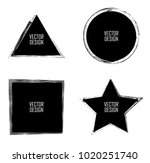 grunge post stamps collection ... | Shutterstock .eps vector #1020251740