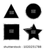 grunge post stamps collection ... | Shutterstock .eps vector #1020251788