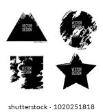grunge post stamps collection ... | Shutterstock .eps vector #1020251818