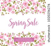 spring sale card with text best ... | Shutterstock .eps vector #1020256276