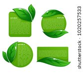 nature tag templates  vector... | Shutterstock .eps vector #1020257533