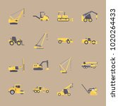 icons construction machinery... | Shutterstock .eps vector #1020264433