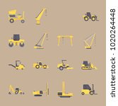 icons construction machinery... | Shutterstock .eps vector #1020264448