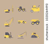 icons construction machinery... | Shutterstock .eps vector #1020264493