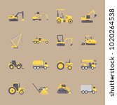 icons construction machinery... | Shutterstock .eps vector #1020264538