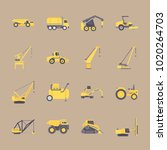 icons construction machinery... | Shutterstock .eps vector #1020264703
