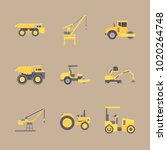icons construction machinery... | Shutterstock .eps vector #1020264748