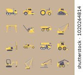 icons construction machinery... | Shutterstock .eps vector #1020264814