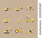 icons construction machinery... | Shutterstock .eps vector #1020265369