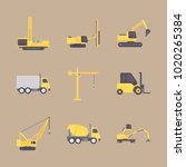 icons construction machinery... | Shutterstock .eps vector #1020265384