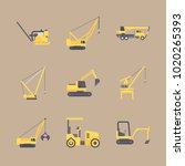 icons construction machinery... | Shutterstock .eps vector #1020265393