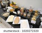 hotel breakfast buffet | Shutterstock . vector #1020272320