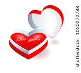 vector illustration. red heart... | Shutterstock .eps vector #1020272788