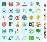 icons about marketing with... | Shutterstock .eps vector #1020275833