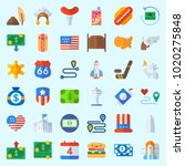 icons about united states with... | Shutterstock .eps vector #1020275848