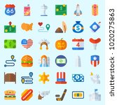 icons about united states with... | Shutterstock .eps vector #1020275863