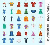 icons about women clothes with... | Shutterstock .eps vector #1020276880